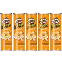 Kit com 05 Batata Pringles Sabor Queijo 121g -