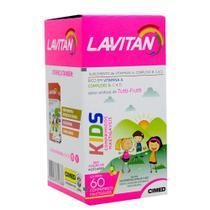 KIT COM 05 - Lavitan Kids - Sabor Tutti Frutti  60 cápsulas -
