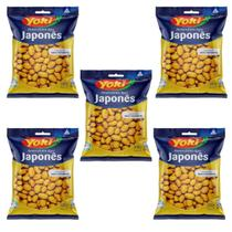 Kit com 05 Pacotes Amendoim Japonês Yoki Salgadinho 500g -