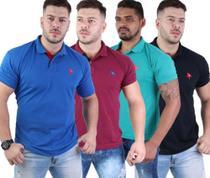 kit com 06 camisa gola polo masculina piquet algodão marca cardeal - cardeal e diversas