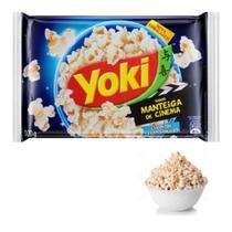 Kit com 06 Pipocas Microondas Yoki Manteiga de Cinema 100g -