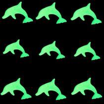 Kit com 09 Adesivos que brilham no Escuro - Golfinho Verde - Shopud