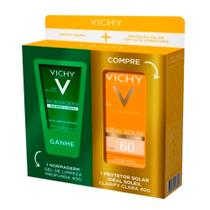 Kit com 1 Protetor Solar Idéal Soleil Clarify Clara FPS 60 40g e Ganhe 1 Gel de Limpeza Normaderm 40g - Vichy