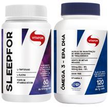 Kit com 1 x sleepfor 60 cápsulas de 470mg + 1 x ômega 3 epa dha 120 cápsulas -  vitafor -