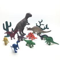 Kit Com 10 Animais Dinossauro Pré histórico Modelos Sortidos - Barcelona