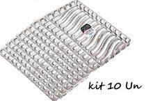 Kit Com 10 Bandejas Cristal Acrilica Retangular Incolor Mitro - Xplast
