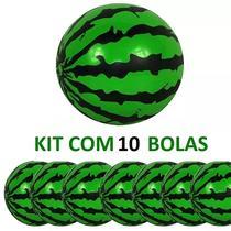 Kit com 10 Bolas Vinil modelo Melancia para Festas e Decorações 23cm - Casa e costura