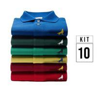 Kit com 10 Camisas Polo masculinas Vira Lata Originais Tecido Piquet - Vira Lata Wear