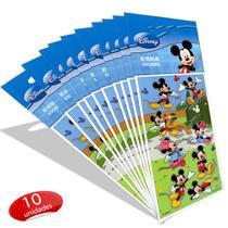 Kit Com 10 Cartelas de Adesivos Mickey e Minnie Disney - Comercial wei
