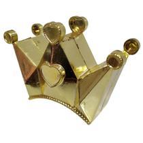 Kit Com 10 Coroas Douradas Decorativa Plástico - Nfranca