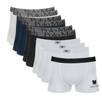 Kit Com 10 Cuecas Boxer De Cotton - Polo Match -
