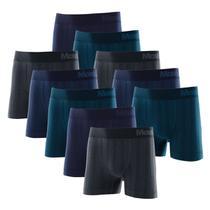 Kit com 10 Cuecas Boxer Microfibra Sem Costura Mash 710.15 -