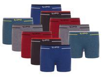 Kit Com 10 Cuecas Boxer Sem Costura Infantil 137 Kids Lupo -