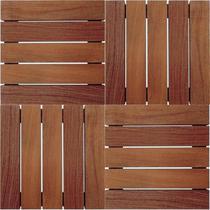 Kit Com 10 Deck De Madeira Eucalipto 50x50 Moveis Tradição - Pelmex