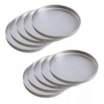 Kit Com 10 Formas Para Pizza Brotinho 15 Cm Em Alumínio - Versailles Utilidades