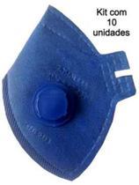 Kit com 10 Máscaras de Proteção Descartável PFF2 com válvula - Ledan