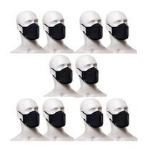 Kit com 10 Máscaras Protetoras Lupo 36004-904 Pretas -