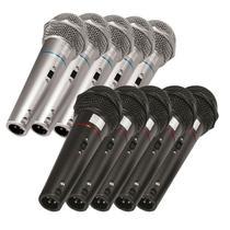 Kit com 10 Microfones de Mão VOXCSR505KIT10 Dinâmico Voxtron -
