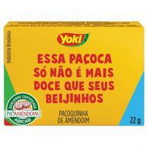 Kit com 10 Paçoca Tablete de Amendoim Yoki 22g cada -