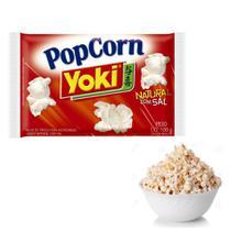 Kit com 10 Pipocas Microondas Yoki Natural Com Sal 100g -