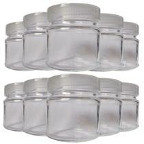 Kit com 10 Potes de Vidro para Armazenar Leite Materno 100ml - Super Mamãe
