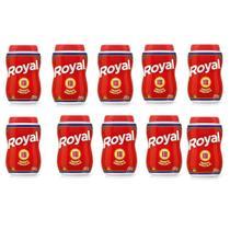 Kit com 10 Potes Fermento em Pó Royal Quimico 250g -