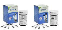 Kit Com 100 Fita Tira Para Medir Glicemia Glicose Em Medidor De Glicose G-tech Lite -