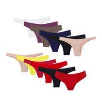 Kit com 12 calcinhas biquíni invisível - Bonjour Lingerie
