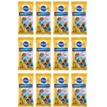 Kit Com 12 Dentastix Pedigree Petiscos Para Cães Pequenos 3un -