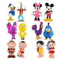 Kit com 12 Mordedor para Bebê Macio - Mickey Disney Turma Mônica e Galinha Pintadinha - La Toy