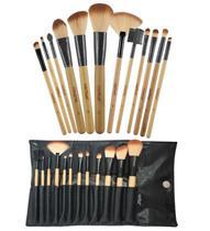 Kit Com 12 Pincéis Macrilan Profissional Para Maquiagem + Necessaire kp1-2g - Preto -