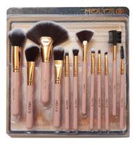Kit com 12 Pincéis para Maquiagem Profissional kit Completo - Meily'S