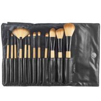 Kit com 12 pincéis profissionais  para  maquiagem Macrilan KP1 - 2G -