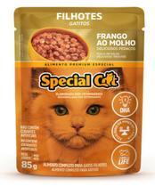 Kit com 12 Ração Úmida Special Cat Sachê Frango Gatos Filhote 85Gr - Special Dog