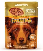 Kit com 12 Ração Úmida Special Dog Sachê Frango Cães Adultos 100Gr -