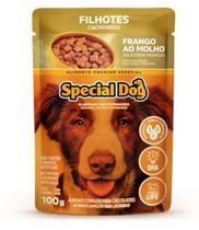 Kit com 12 Ração Úmida Special Dog Sachê Frango Cães Filhotes 100Gr -