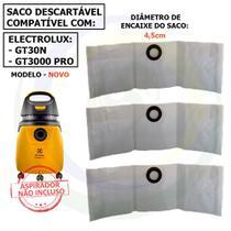 Kit com 12 Saco para Aspirador de Pó Electrolux Gt30n / Gt3000 Novo G3nsc -