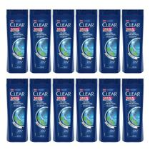 Kit com 12 Shampoo Clear Ice Cool Menthol 200ml -
