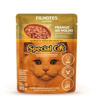 Kit com 12 Unidades Ração Special Cat para gatos Filhotes Sabor Frango - 85g cada -