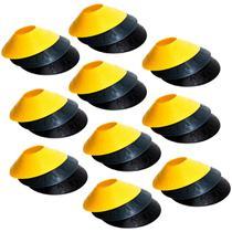 Kit com 120 Half Cones Chapéu Chinês para Treino de Agilidade Pretorian Performance HC-PP -