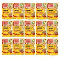 Kit com 15 - Alimento úmido Friskies Sachê Frango ao Molho para Gatos Adultos - Nestlé Purina (85g) -