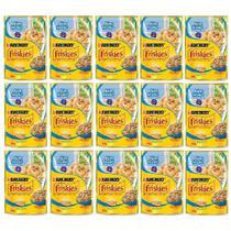 Kit com 15 - Alimento úmido Friskies Sachê Peixe Branco ao Molho para Gatos Adultos - Nestlé Purina (85g) -