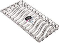 Kit Com 15 Bandeja Retangular Acrílica Incolor Mitro - Xplast