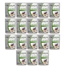 Kit com 18 - Alimento úmido Optimum Sachê Sabor Frango para Cães Adultos de Raças Pequenas / Minis  - Mars (100g) -
