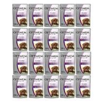 Kit com 18 - Alimento úmido Optimum Sachê Sabor Frango para Cães Filhotes - Mars (100g) - Óptimum
