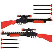 Kit com 2 arminhas de brinquedo com dardos e tiro ao alvo - Om Utilidades