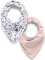 Kit com 2 babadores bandana HUG - Jardim rosa -