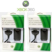 Kit Com 2 Bateria Para Controle Xbox 360 4800 Mah Preto - Expresso