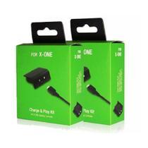 Kit Com 2 Baterias Recarregáveis e Cabo Usb Para Controle Xbox One - B Max