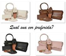 Kit com 2 Bolsas, 1 Carteira e 1 Mule - Manuela Marques